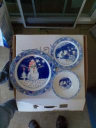 Snowman dish set
