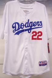 Throuback MBL Dodger LA #22 KERSHAW White Jersey Size L or XL