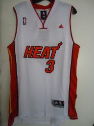 Throuback NBA Heat # 3 WADE  White Jersey Size L