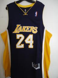 Throuback NBA Lakers #24 Bryant Puple Jersey Size L