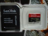 SanDisk PRO 128 GB Micro SDHC – UHS Memory Card