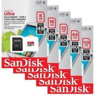 Brand New 64 GB SanDisk Ultra Micro SDHC-UHS