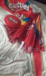 Skittles Beach Party Set - Umbrella Beach Ball Frisbee Sunglasses