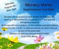 38 house Monacy Manor Neighborhood Yardsale