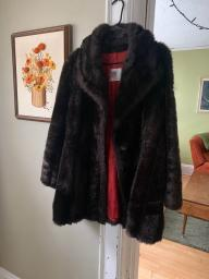Vintage Faux Fur Coat - Great Condition!