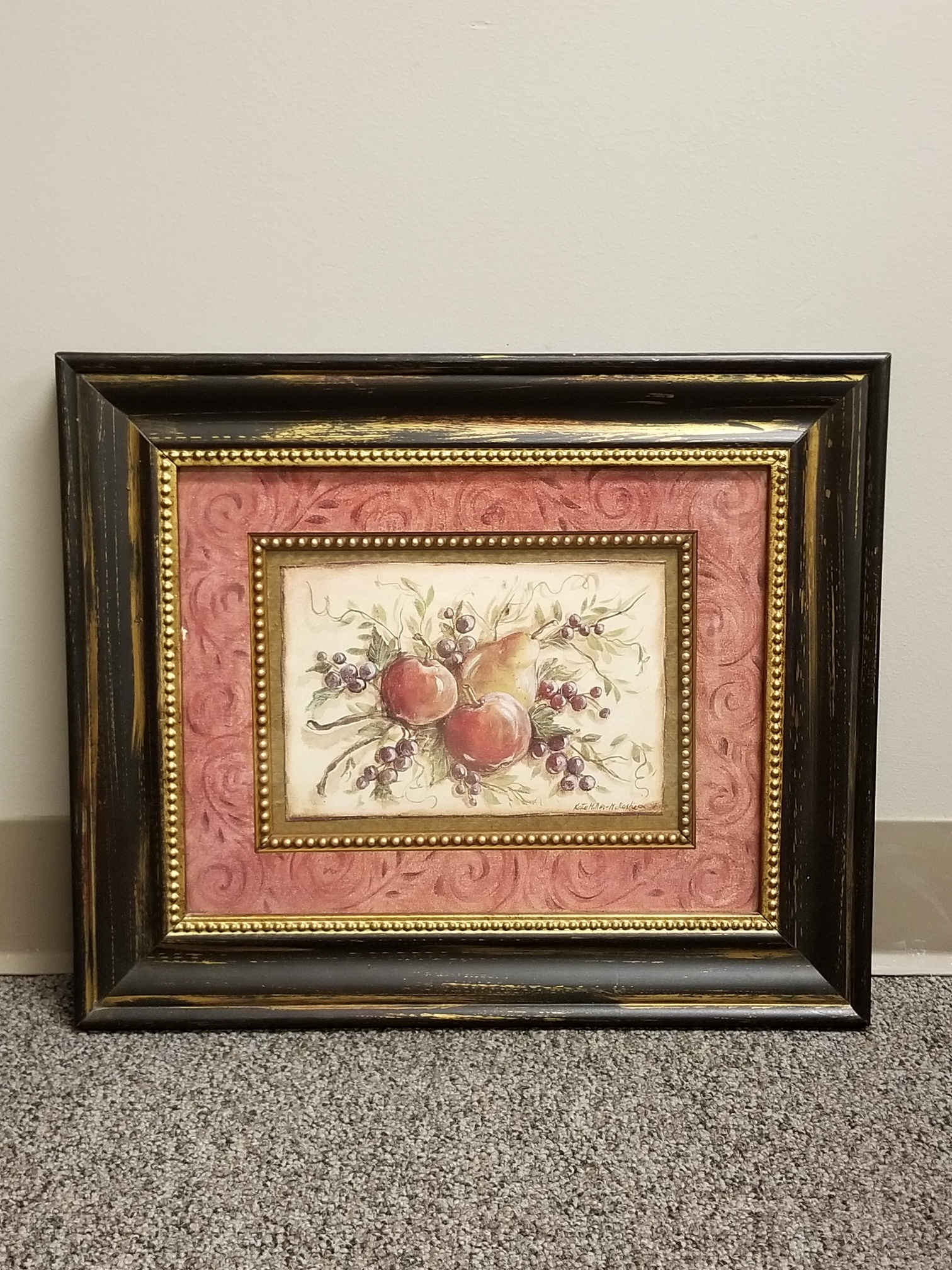 Framed Wall Art Fruit Scene