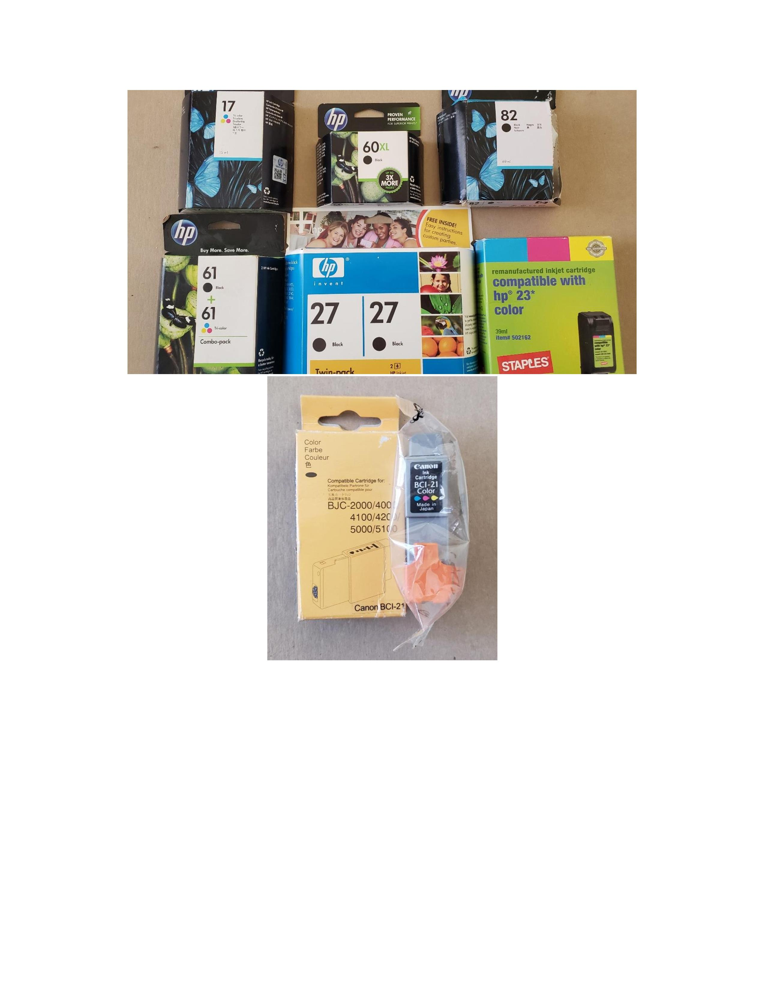 Various Inkjet Printer Cartridges