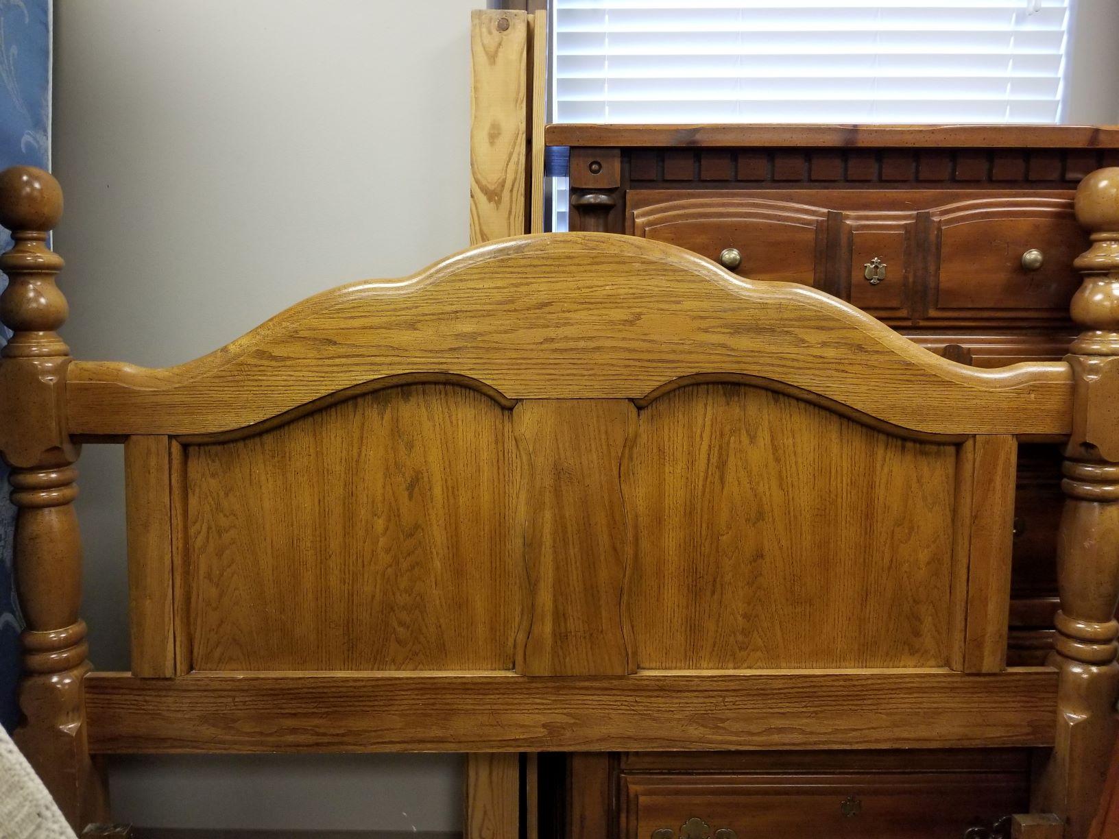 Queen Size Wooden Headboard