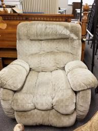 La-Z-Boy Puffy Fabric Covered Recliner